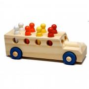 Caminhão Educativo de Madeira Caminhãozinho com Pinos