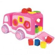 Caminhãozinho Didático Baby Rosa