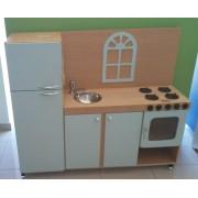Cozinha de madeira  Modelo Rústica para casinha infantil