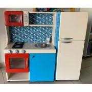 Cozinha em madeira Baby Colorida