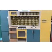 Cozinha em madeira Malu com Armário - Brinquedo de Madeira