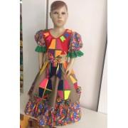 Fantasia Vestido Caipira para Festa Junina Balão tamanho P