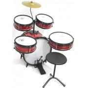 Instrumento Musical Bateria Infantil Baby AM2 Vermelha