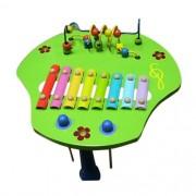Instrumento Musical Infantil de Madeira Mesa Percussiva com Aramado