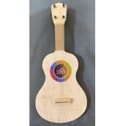 Instrumento Musical Infantil  de Madeira Mini Violão Infantil