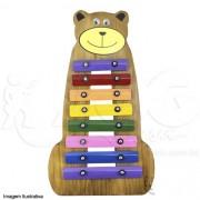 Instrumento Musical Infantil de MadeiraMetalofone Urso Colorido