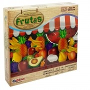 Jogo da Memória de Madeira Frutas 24 peças