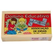 Jogo Educativo de Madeira Dominó Associação de Ideias