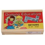 Jogo Educativo de Madeira Dominó de Metades