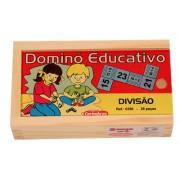 Jogo Educativo de Madeira Dominó Divisão