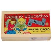 Jogo Educativo de Madeira Dominó Multiplicação