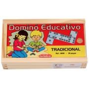 Jogo Educativo de madeira Dominó Tradicional