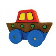 Kit Artesanato Faça e Brinque Brinquedo de Madeira Kit Transporte para Montar e Pintar