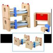 Kit mini Móveis de Madeira para casinha de boneca Childrens Room Neo