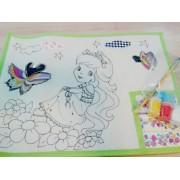 Kit Pintura Jogo Americano para Pintar e Customizar.