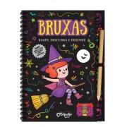 Livro Raspe, Descubra e Desenhe Bruxas
