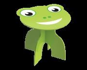 Mesa Redonda de Madeira Animalkids Frog