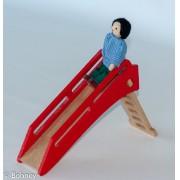 Mini escorregador Brinquedo de madeira para casinha de boneca