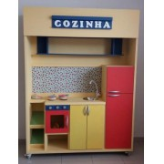 Modulo Cozinha de madeira para casinha infantil