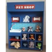 Modulo Pet Shop de madeira para casinha infantil
