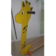 Patinete de Madeira de 4 Rodas Girafa