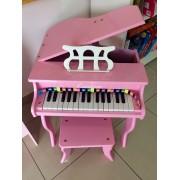 Piano de Madeira Acústico Infantil com 30 Teclas Custom Rosa