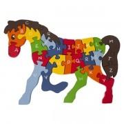 Quebra Cabeça com Alfabeto e Números Cavalo
