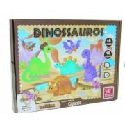 Quebra Cabeça de Madeira Dinossauros 48 Peças