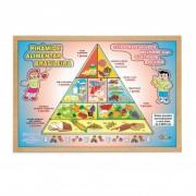 Quebra Cabeça de Madeira Pirâmide Alimentar