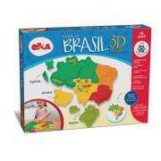 Quebra Cabeça Mapa do Brasil 3D Plástico