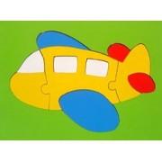 Quebra Cabeça Placa de Madeira Grande Avião