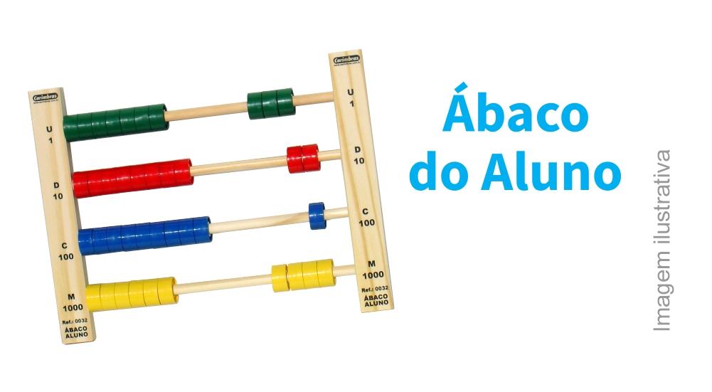 Ábaco do Aluno para Ensino da Matemática Brinquedo Educativo em Madeira