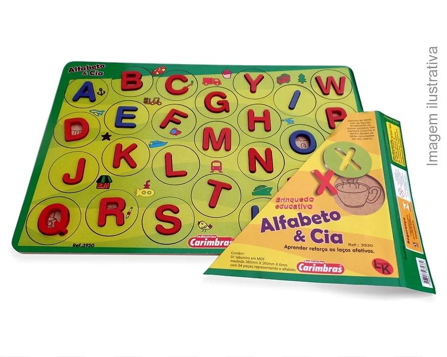 Alfabeto & Cia Brinquedo Educativo de Madeira