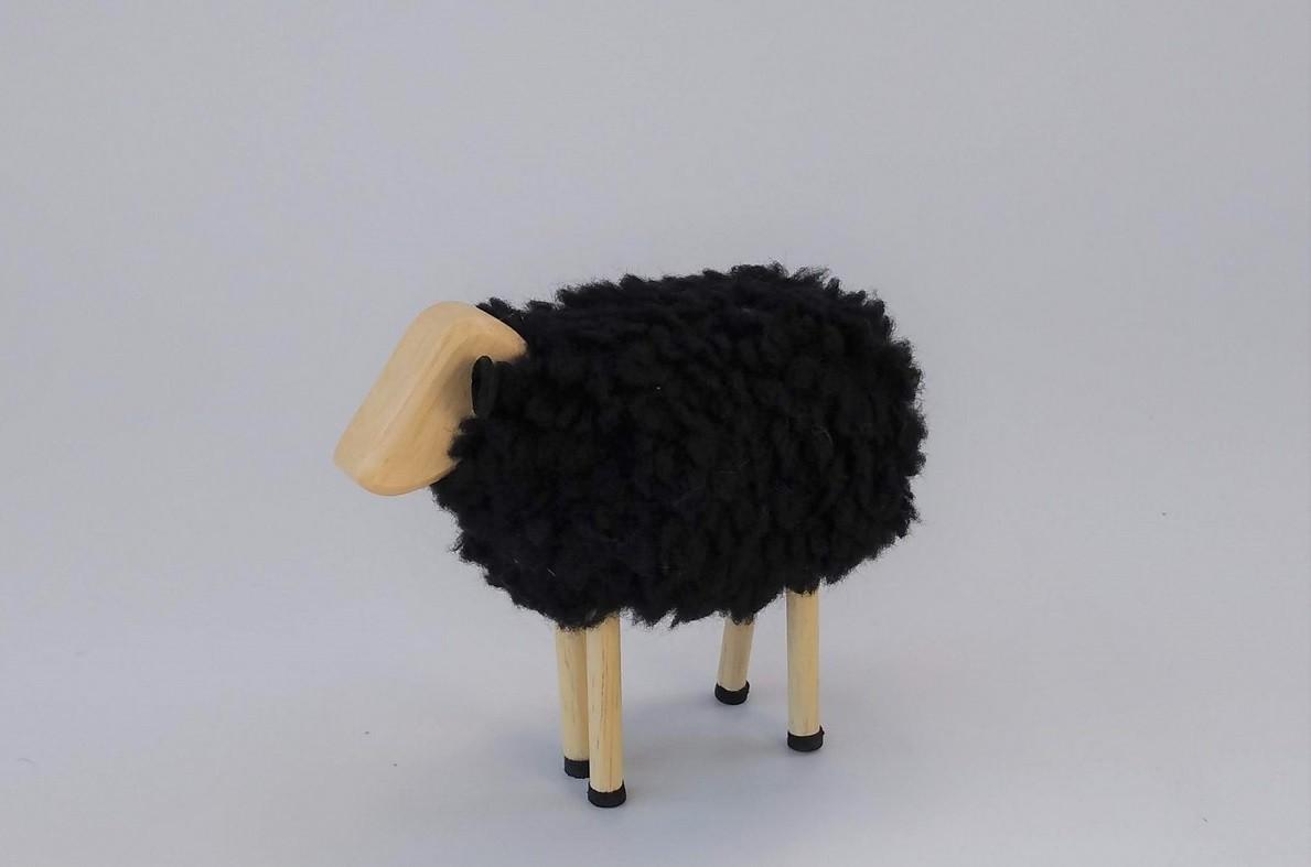 Animais Articulados de Madeira Ovelha Preta