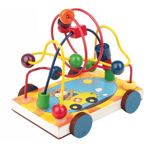 Aramado Carrinho Brinquedo Educativo de Madeira