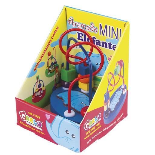 Aramado Mini Elefante Brinquedo Educativo de Madeira