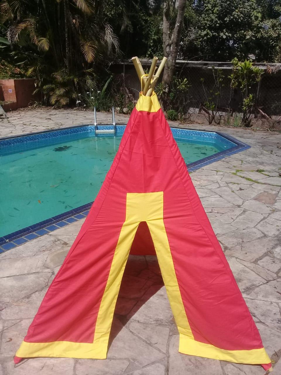 Barraca Tenda de Índio Colorida Vermelha