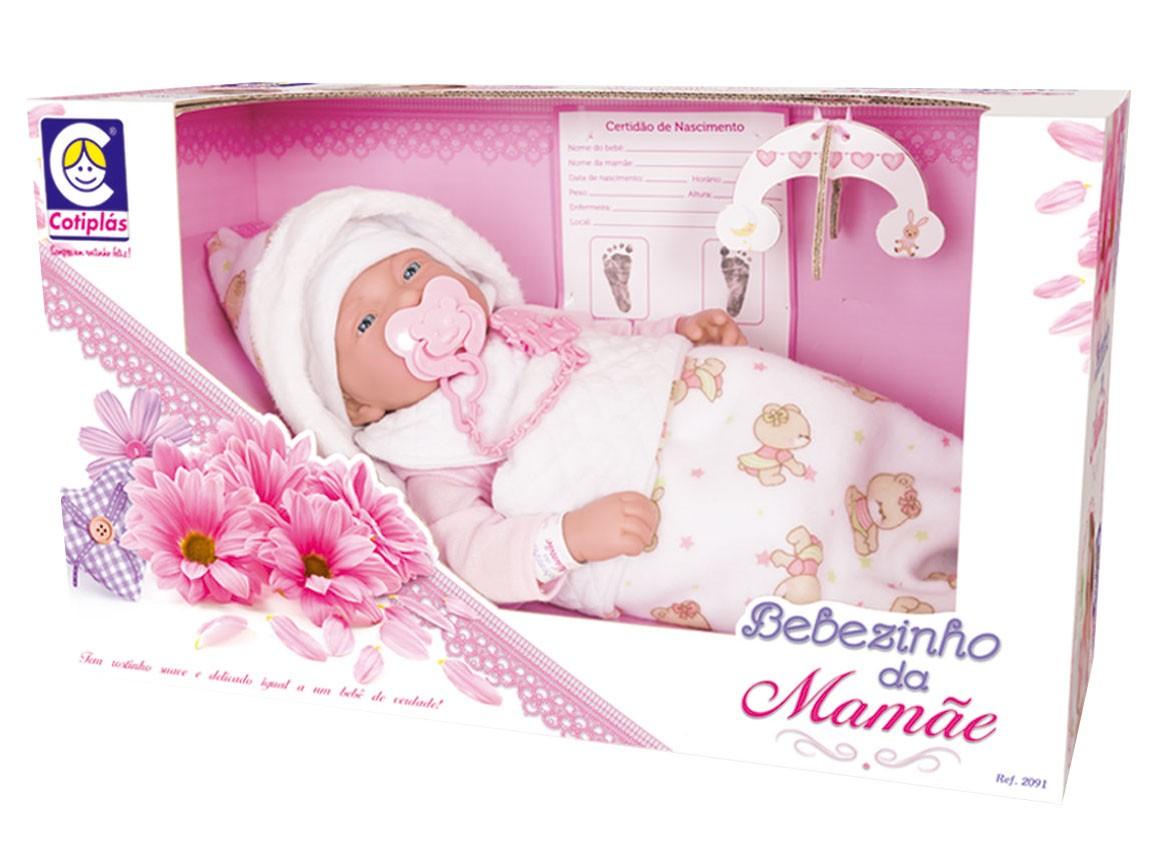 Bebezinho da Mamãe Deitado Cotiplás