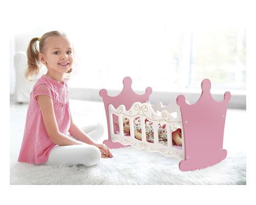 Berço de Boneca Princesas Brinquedo de Madeira
