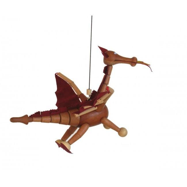 Bicho de Madeira Articulado Móbile Dragão Quixote