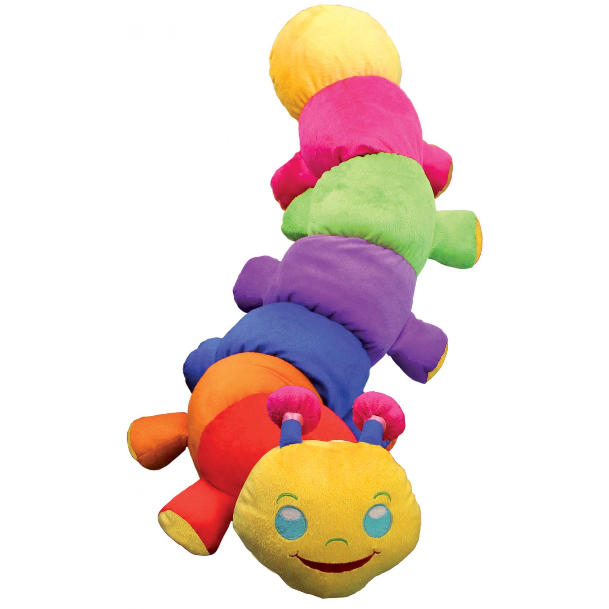 Centopeia Colorida de Pelúcia Plush Brinquedo Educativo