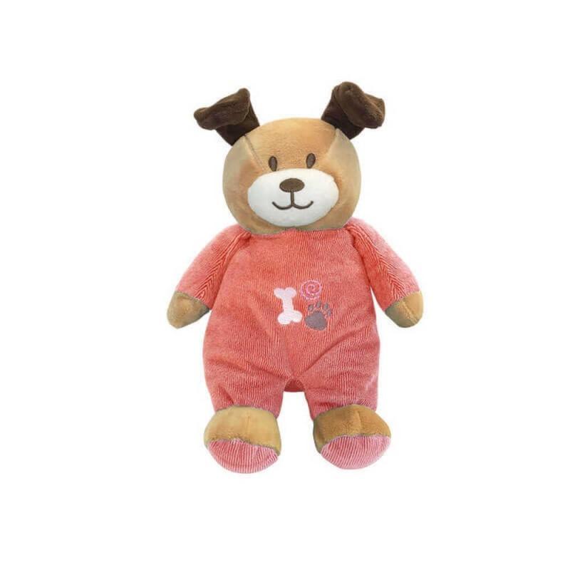 Bicho de Pelúcia Ursinho Baby Dog Pink