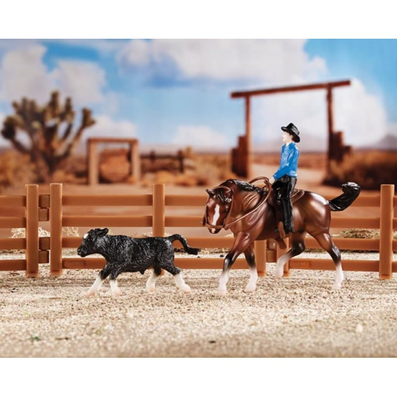 Bichos Miniaturas colecionaveis Kit Stablemates Cutting Horse Breyer