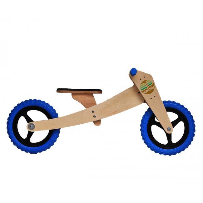 Bicicleta de Madeira 02 em 01 Woodbike Azul
