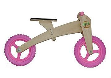 Bicicleta de Madeira 02 em 01 Woodbike Rosa
