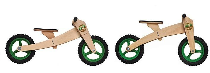 Bicicleta de Madeira 02 em 01 Woodbike Verde