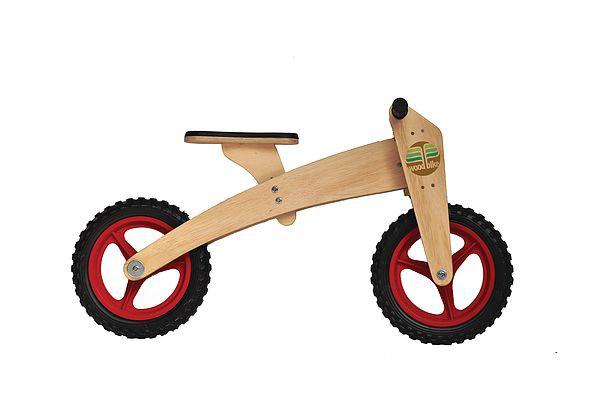 Bicicleta de Madeira 02 em 01 Woodbike Vermelha