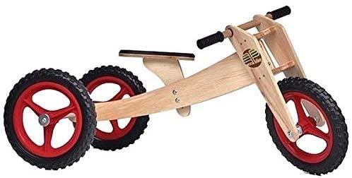 Bicicleta de Madeira 03 em 01 Woodbike Vermelha