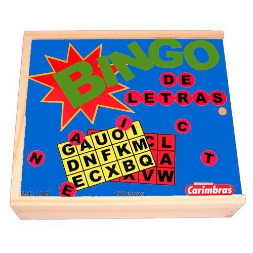 Bingo de Letras Brinquedo Educativo de Madeira