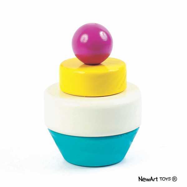 Blocos de Montar de Madeira  Cupcake